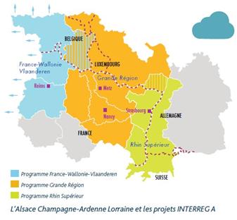 La région Grand Est et les projets Interreg A